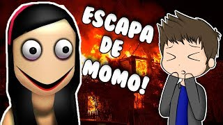 MOMO MAKES ME IN ROBLOX Cerso Roblox Momo Obby in Spanish