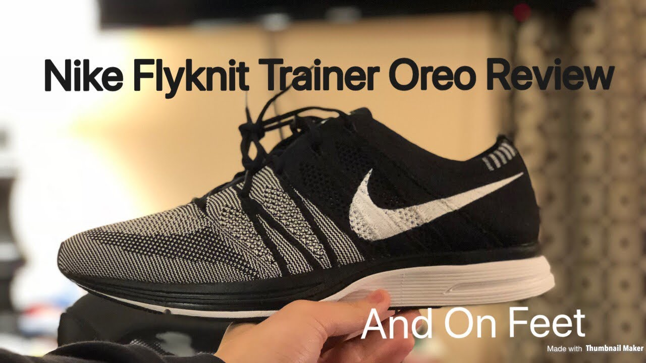 313b3da26842dc Review + On Feet  Nike Flyknit Trainer Oreo