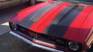 1968 camaro 377 afr210 solid roller idle clip carbon fiber stripes anvil hood