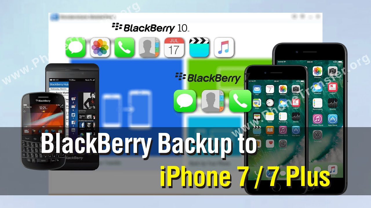 iPhone VS BlackBerry: Easy Way to Transfer Data from BlackBerry into iPhone