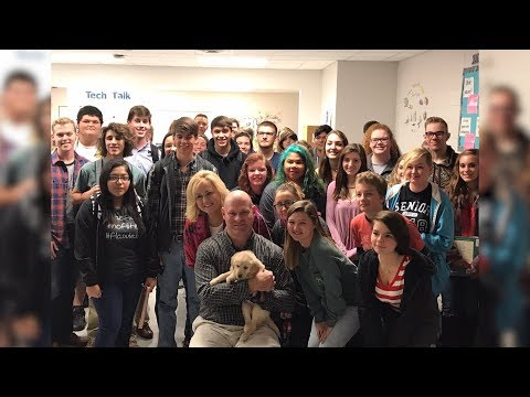 Teacher Gets Surprised With Puppy From Students After His Dog Passed Away