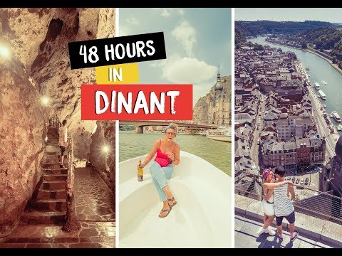 First Visit to Dinant, BELGIUM - Caves, Saxaphones and boats! Eurotunnel Road Trip Pt. 2 #Ad