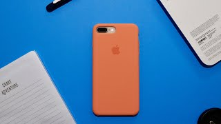 iPhone 8 Plus Silicone Case New Peach Colour Unboxing and Review!!
