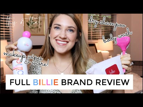 BILLIE BRAND REVIEW | Razor, Shave Cream, Dry Shampoo & More! | THIS OR THAT