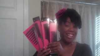 Detangle Natural Hair with Seamless Comb Magic Star vs Comb & Denman Brush