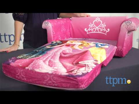disney flip open sofa bed modern l shaped sectional princess from spin master youtube