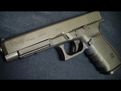 Glock 41 Gen 4  close up in HD BATJAC J.W