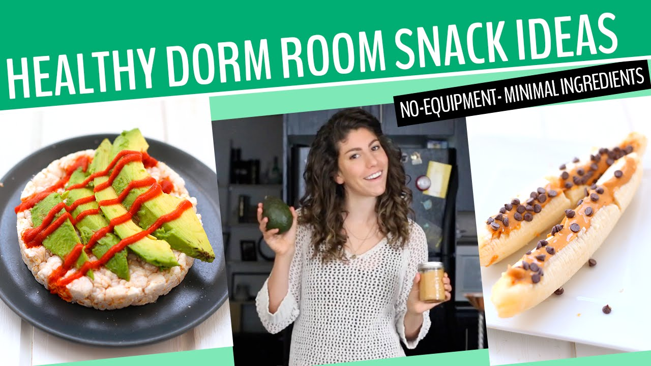 HEALTHY DORM ROOM SNACK RECIPES! | No Equipment + 3 Ingredients Or Less! Part 9