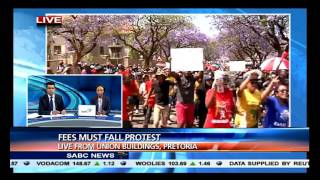 Student protest outside Union Buildings Pta