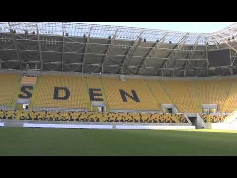 Tour of Dynamo Dresden's Glücksgas Stadium - 7th February, 2011