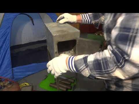 Маленькая печка для палатки своими руками