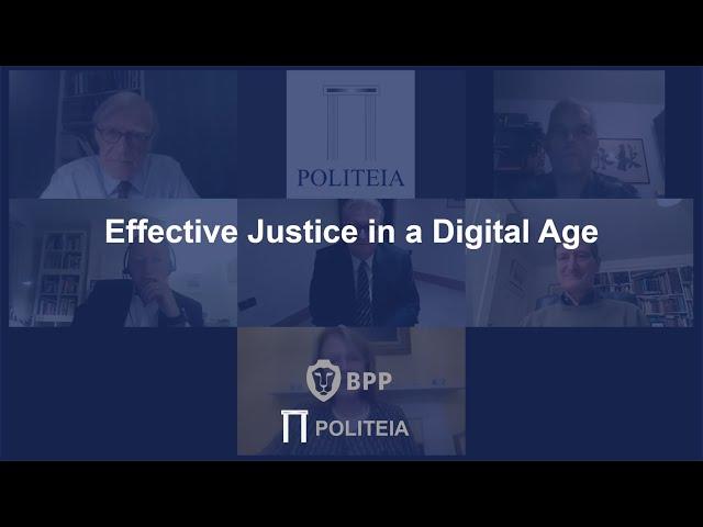 Effective Justice in a Digital Age   27/11/20   Webinar
