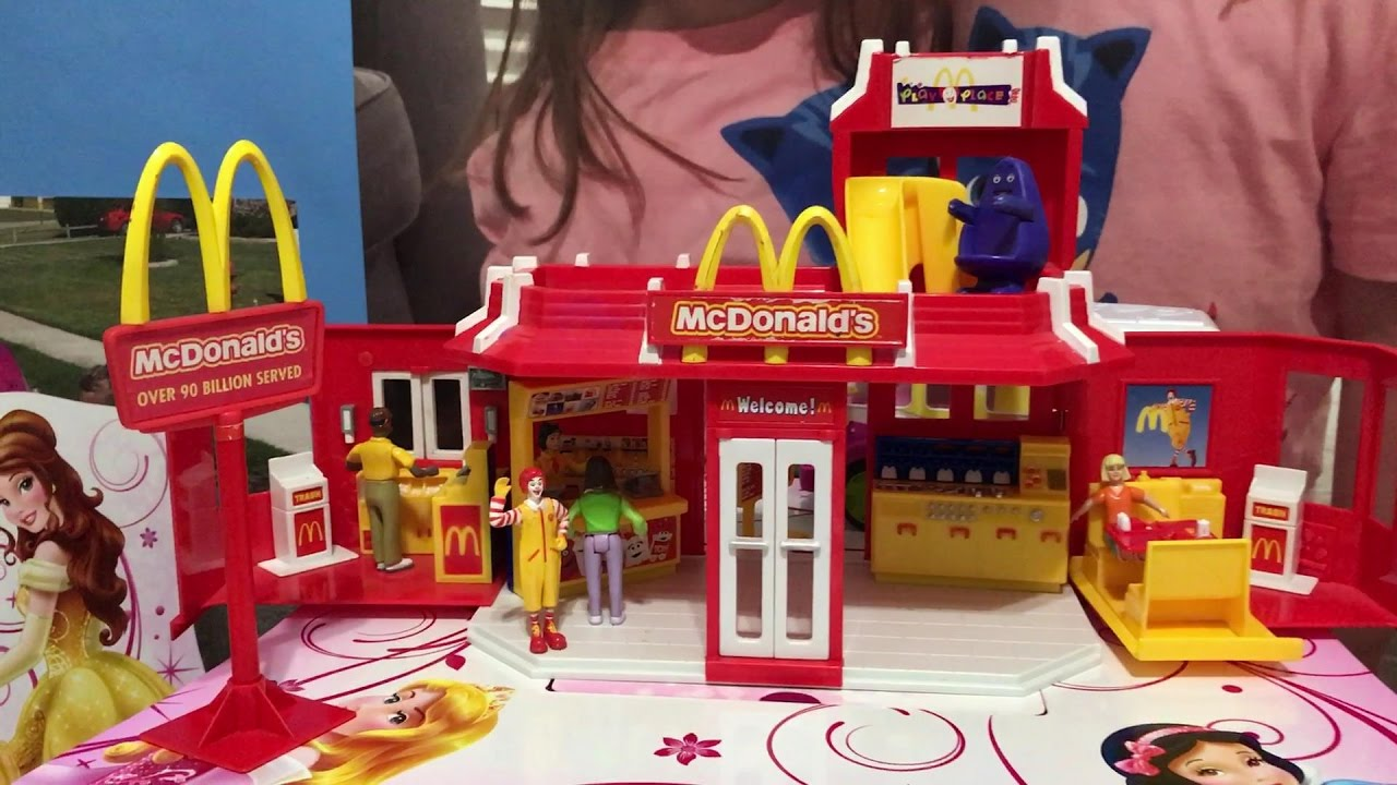 mcdonalds 2003 play set with disney princess drive thru restaurant youtube. Black Bedroom Furniture Sets. Home Design Ideas