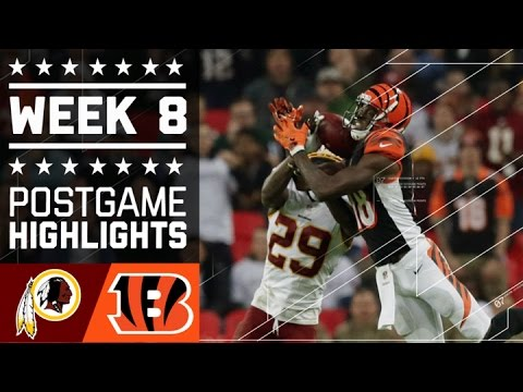 Redskins vs. Bengals | NFL Week 8 Game Highlights