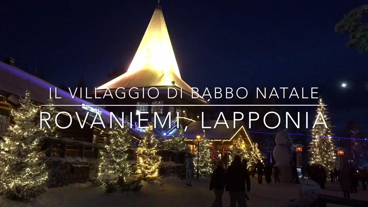 Villaggio di Babbo Natale Santa Claus Village  Rovaniemi Lapponia  YouTube