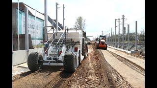 Estabilización del suelo libre de polvo pista ICE en Alemania