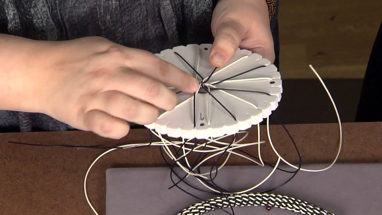 Beads Baubles and Jewels - Kumihimo with Leather - YouTube