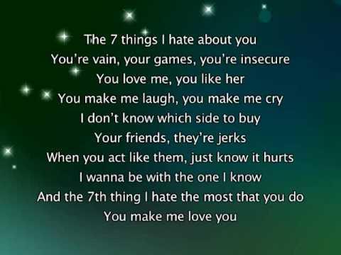 7 things i like about you lyrics