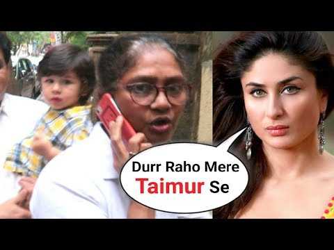 Taimur Ali Khan SCARED Of Paparazzi, Nanny Gets Angry