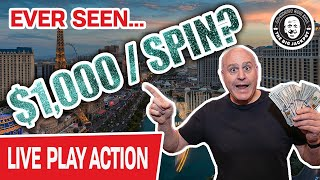 🔴 $1,000 PER SPIN Live In Las Vegas 💵 Ever Seen THAT Before?