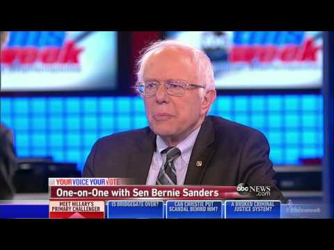 Bernie Sanders with George Stephanopolous on ABC
