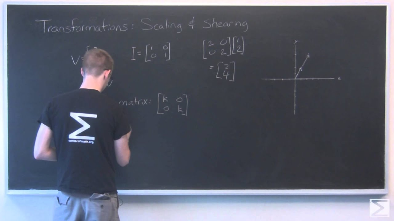 Linear Algebra: Scaling and Shearing Transformations