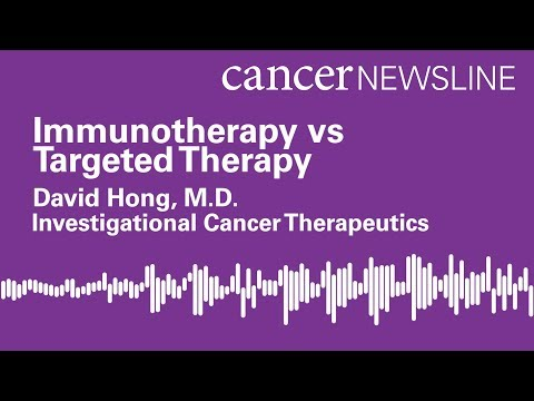 Immunotherapy vs. targeted therapy for cancer treatment