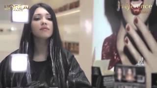 Окрашивание Лореаль омбре на волосах: видео
