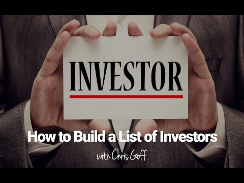How to Build a List of Investors and Cash Buyers for Your Next Real Estate Deal