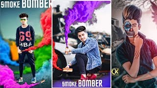 SMOKE BOMBER PICSART CREATIVE PHOTO EDITING || NEW LATEST MANIPULATION PHOTO EDITING TUTORIAL = SRL