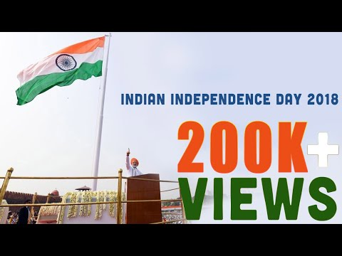 Indian Independence Day 2018 - PM Modi hoisting Flag Ceremony 15-08-2018