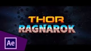 Thor Ragnarok style intro