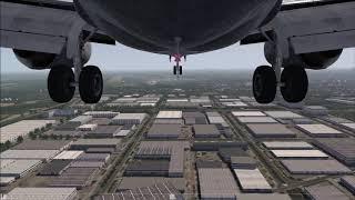 Boeing 737-500 [Gear CAM] landing in Rotterdam ++ Aerofly FS 2