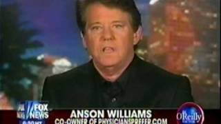 Anson Williams of Happy Days fame on The O'Reilly Factor with Bill O'Reilly