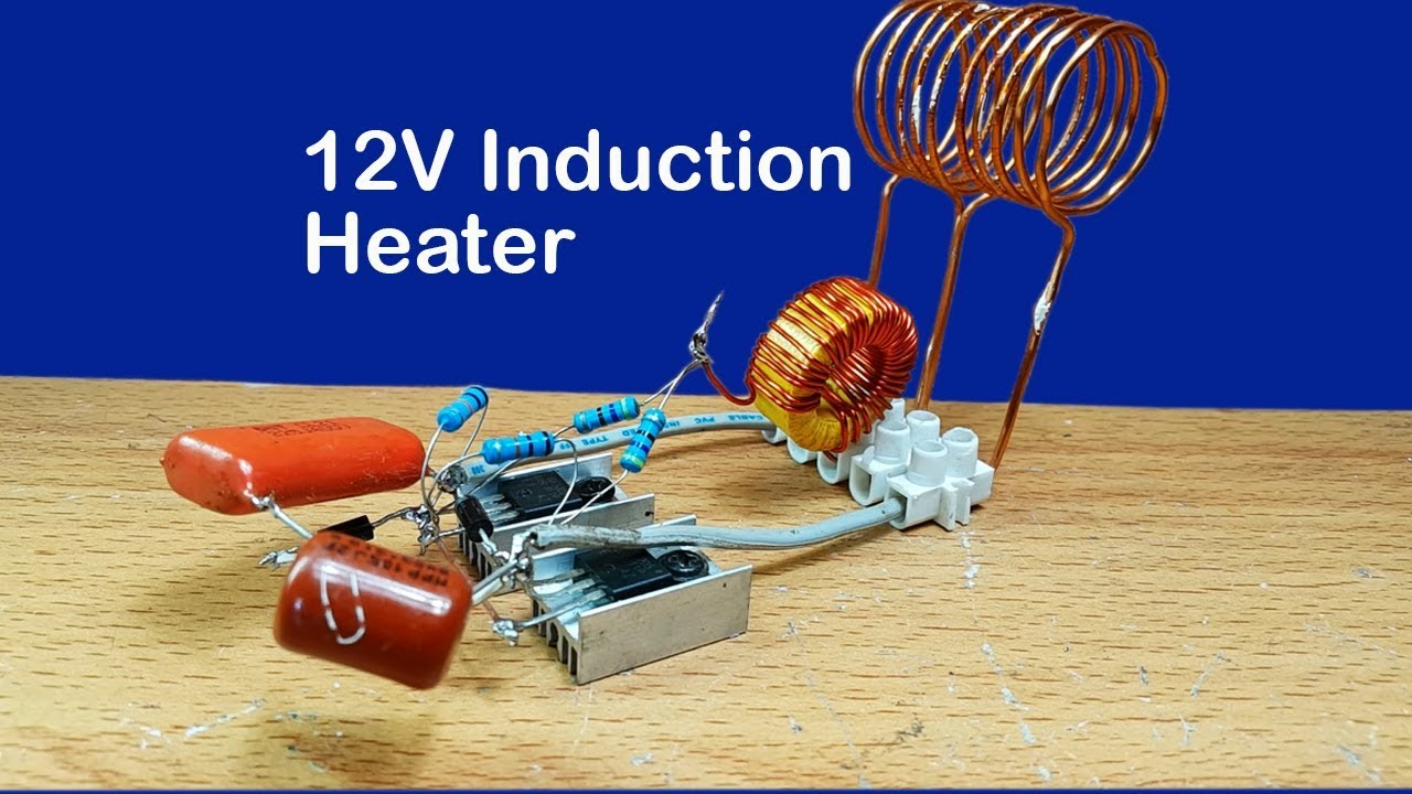 testing 12v dc induction heater circuit with mosfet irf3205 [ 1280 x 720 Pixel ]