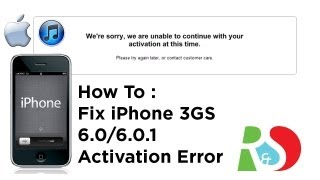 видео We're sorry, we are unable to continue with your activation at this time FIX 100% 2013 3GS - 3G