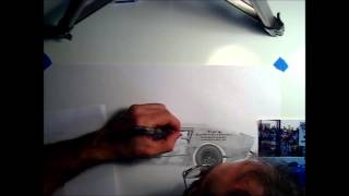 Stock car time lapse drawing