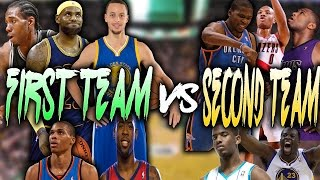 ALL NBA FIRST TEAM VS ALL NBA SECOND TEAM!! NBA 2K16 MY LEAGUE!!
