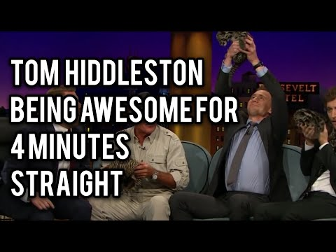 Tom Hiddleston Being Awesome Af For 4 Minutes Straight
