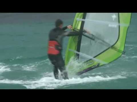 Tarifa windsurfing wave action