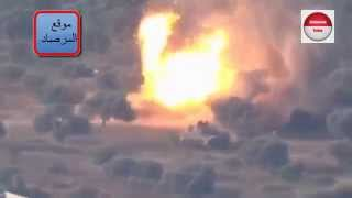 Syria WAR 2015 : FSA fighters destroy SAA tank with ATGM