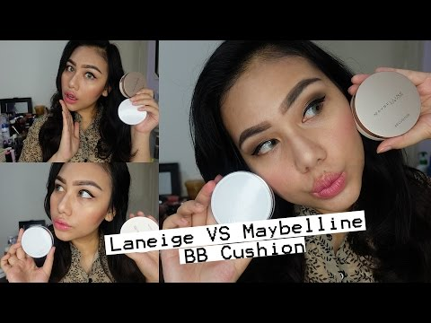 REVIEW: Laneige BB Cushion VS Maybelline Super BB Cushion on ASIAN SKIN