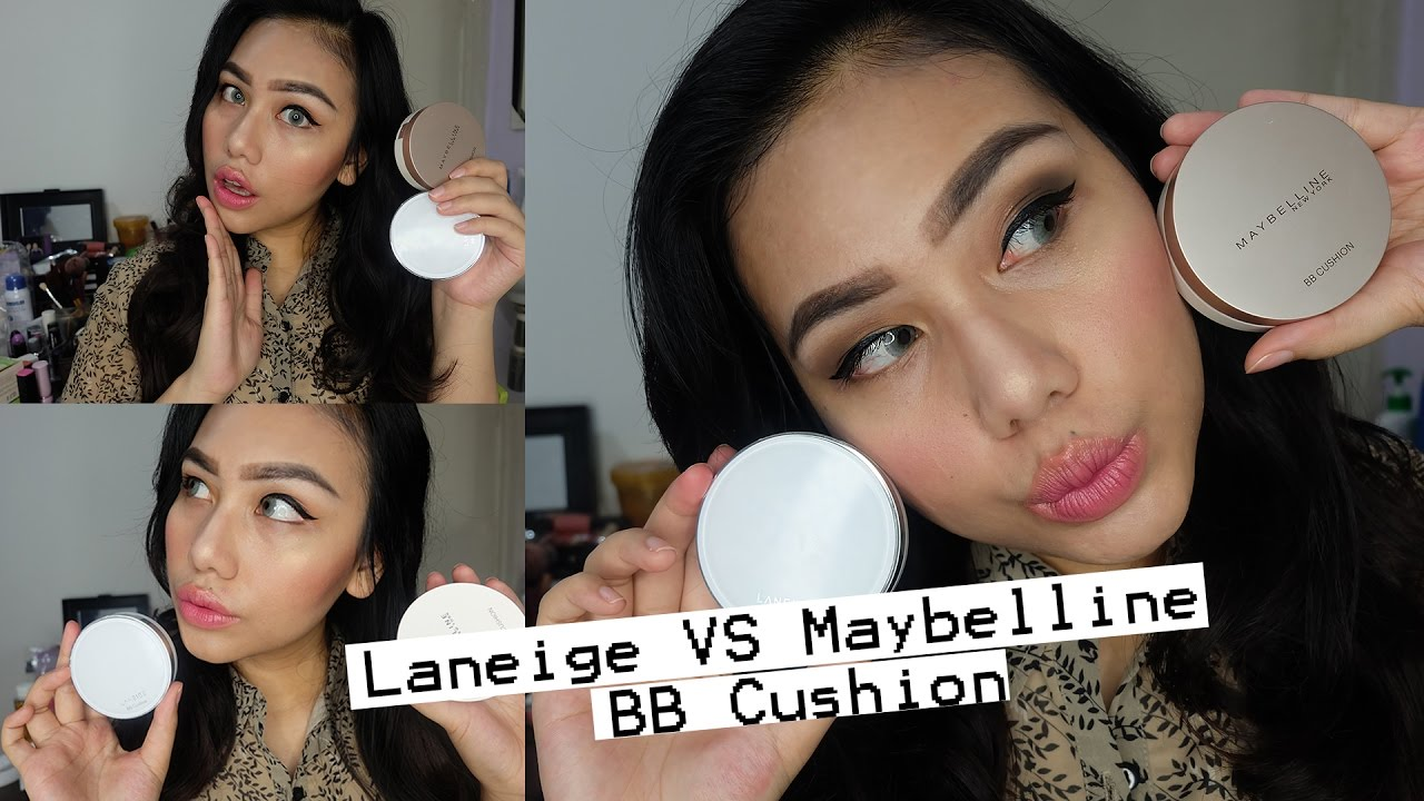Review Laneige Bb Cushion Vs Maybelline Super Bb Cushion On Asian Skin