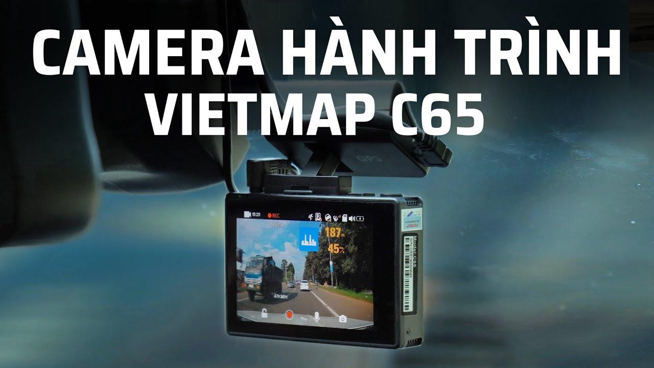Trên tay Camera hành trình VIETMAP C65 kiêm trợ lý nhắc thông tin giao thông