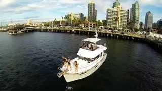 Dji phantom music video on a yacht