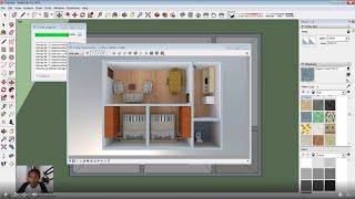 Sketchup Basic 3D Floor Plan For Beginner | Live Streaming