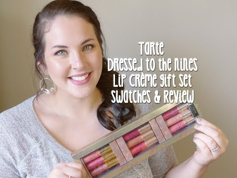 Tarte Dressed To The Nines LipSurgence Lip Crème Gift Set Review & Swatches⎮LeighaDarling