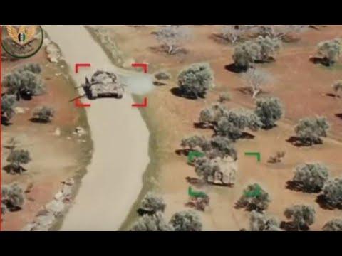 لن تصدق بمشهد نادر.. مطاردة هوليودية بين دبابة سورية ومدرعة تركية ! مشهل لايصدق