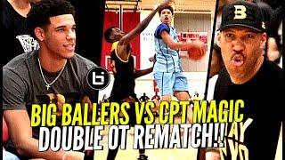 LaMelo Ball vs WHOLE Squad of D1 PLAYERS! Big Ballers DOUBLE OT REMATCH vs Compton Magic!