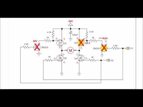 higher voltage mosfet h-bridge motor circuits